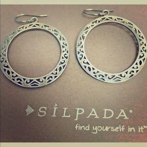 """Silpada 1.25""""  925 Sterling Hoop Earrings"""